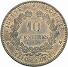 Photo numismatique  MONNAIES MODERNES FRANÇAISES 3ème REPUBLIQUE (4 septembre 1870-10 juillet 1940)  10 centimes 1872.