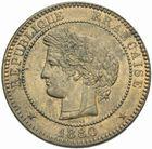 Photo numismatique  MONNAIES MODERNES FRANÇAISES 3ème REPUBLIQUE (4 septembre 1870-10 juillet 1940)  10 centimes 1880.