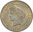 Photo numismatique  MONNAIES MODERNES FRANÇAISES 3ème REPUBLIQUE (4 septembre 1870-10 juillet 1940)  10 centimes 1884.