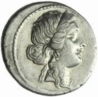 Photo numismatique  MONNAIES RÉPUBLIQUE ROMAINE JULES CESAR (100-44)  Denier vers 47/46.