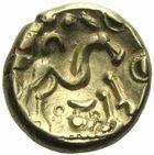 Photo numismatique  MONNAIES IBERIE- GAULE - CELTES AMBIANI (Bassin de la Somme)  Statère d'or aux deux S.