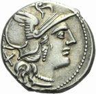 Photo numismatique  MONNAIES REPUBLIQUE ROMAINE P. Aelius Paetus (vers 138)  Den ier.