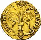 Photo numismatique  MONNAIES BARONNIALES Principauté d'ORANGE RAYMOND V (1340-1393) Florin d'or.