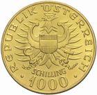 Photo numismatique  MONNAIES MONNAIES DU MONDE AUTRICHE République (depuis 1918) 1000 schilling 1976 or.