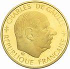 Photo numismatique  MONNAIES MODERNES FRANÇAISES 5ème RÉPUBLIQUE (Depuis le 4 octobre 1958)  1 franc or BE 1988.
