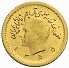 Photo numismatique  MONNAIES MONNAIES DU MONDE IRAN MOHAMMED REZA PAHLEVI (1942-1979) Quart de Pahlavi or daté 1355 = 1976.