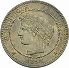 Photo numismatique  MONNAIES MODERNES FRANÇAISES 3ème REPUBLIQUE (4 septembre 1870-10 juillet 1940)  10 centimes, Paris 1898.