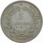 Photo numismatique  MONNAIES MODERNES FRANÇAISES 3ème REPUBLIQUE (4 septembre 1870-10 juillet 1940)  5 centimes, Paris 1871.