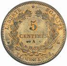 Photo numismatique  MONNAIES MODERNES FRANÇAISES 3ème REPUBLIQUE (4 septembre 1870-10 juillet 1940)  5 centimes, Paris 1872.