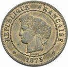 Photo numismatique  MONNAIES MODERNES FRANÇAISES 3ème REPUBLIQUE (4 septembre 1870-10 juillet 1940)  5 centimes, Bordeaux 1873.
