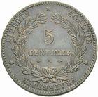 Photo numismatique  MONNAIES MODERNES FRANÇAISES 3ème REPUBLIQUE (4 septembre 1870-10 juillet 1940)  5 centimes, Paris 1874.