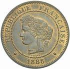 Photo numismatique  MONNAIES MODERNES FRANÇAISES 3ème REPUBLIQUE (4 septembre 1870-10 juillet 1940)  5 centimes, Paris 1888.