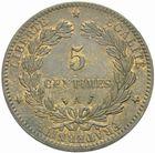 Photo numismatique  MONNAIES MODERNES FRANÇAISES 3ème REPUBLIQUE (4 septembre 1870-10 juillet 1940)  5 centimes, Paris 1887.
