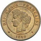 Photo numismatique  MONNAIES MODERNES FRANÇAISES 3ème REPUBLIQUE (4 septembre 1870-10 juillet 1940)  5 centimes, Paris 1889.