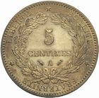 Photo numismatique  MONNAIES MODERNES FRANÇAISES 3ème REPUBLIQUE (4 septembre 1870-10 juillet 1940)  5 centimes, 1890 Paris.