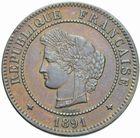 Photo numismatique  MONNAIES MODERNES FRANÇAISES 3ème REPUBLIQUE (4 septembre 1870-10 juillet 1940)  5 centimes, Paris 1891.