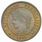Photo numismatique  MONNAIES MODERNES FRANÇAISES 3ème REPUBLIQUE (4 septembre 1870-10 juillet 1940)  2 centimes, Paris 1895.