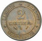 Photo numismatique  MONNAIES MODERNES FRANÇAISES 3ème REPUBLIQUE (4 septembre 1870-10 juillet 1940)  2 centimes, Paris 1893.