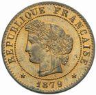 Photo numismatique  MONNAIES MODERNES FRANÇAISES 3ème REPUBLIQUE (4 septembre 1870-10 juillet 1940)  1 centime, Paris, 1879.