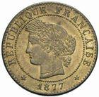 Photo numismatique  MONNAIES MODERNES FRANÇAISES 3ème REPUBLIQUE (4 septembre 1870-10 juillet 1940)  1 centime, Paris 1877.