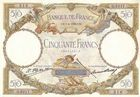 Photo numismatique  ARCHIVES VENTE 2011 -Coll Amateur Bourguignon 2 PAPIER MONNAIE BANQUE DE FRANCE  715- 50 FRANCS (LUC OLIVIER MERSON).