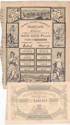 Photo numismatique  ARCHIVES VENTE 2011 -Coll Amateur Bourguignon 2 PAPIER MONNAIE BILLETS DE LOTERIE  706- LOT.