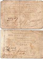 Photo numismatique  ARCHIVES VENTE 2011 -Coll Amateur Bourguignon 2 PAPIER MONNAIE BILLETS DE CONFIANCE (Révolution Française) Saint-Maixent (Deux-Sèvres) 705-  CARTES A JOUER.