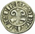 Photo numismatique  ARCHIVES VENTE 2011 -Coll Amateur Bourguignon 2 BARONNIALES Duché de BOURGOGNE HUGUES III (1162-1192) 299- Denier de Dijon.