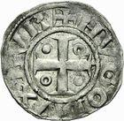 Photo numismatique  ARCHIVES VENTE 2011 -Coll Amateur Bourguignon 2 BARONNIALES Duché de BOURGOGNE HUGUES II (1102-1143) 292- Denier de Chalon.