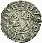 Photo numismatique  ARCHIVES VENTE 2011 -Coll Amateur Bourguignon 2 BARONNIALES Duché de BOURGOGNE HUGUES II (1102-1143) 284- Denier de Dijon.