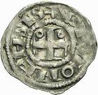 Photo numismatique  ARCHIVES VENTE 2011 -Coll Amateur Bourguignon 2 BARONNIALES Duché de BOURGOGNE DIJON - SAINT-BENIGNE (fin XIe-début XIIe) 282- Denier de Dijon.
