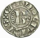 Photo numismatique  ARCHIVES VENTE 2011 -Coll Amateur Bourguignon 2 BARONNIALES Duché de BOURGOGNE - monnayage comtal Epoque d'HUGUES II comte de Chalon (1102-1143) 268- Denier de Chalon.