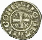 Photo numismatique  ARCHIVES VENTE 2011 -Coll Amateur Bourguignon 2 BARONNIALES Duché de BOURGOGNE - monnayage comtal Epoque d'HUGUES II comte de Chalon (1102-1143) 264- Denier de Chalon.