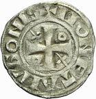 Photo numismatique  ARCHIVES VENTE 2011 -Coll Amateur Bourguignon 2 BARONNIALES Duché de BOURGOGNE - monnayage comtal Epoque d'HUGUES II comte de Chalon (1102-1143) 263- Denier de Chalon.