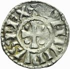 Photo numismatique  ARCHIVES VENTE 2011 -Coll Amateur Bourguignon 2 BARONNIALES Duché de BOURGOGNE - monnayage comtal Comté de CHALON au nom du roi PHILIPPE Ier (1060-1108) 259- Denier de Chalon, 2e type.