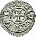 Photo numismatique  ARCHIVES VENTE 2011 -Coll Amateur Bourguignon 2 BARONNIALES Duché de BOURGOGNE - monnayage comtal Comté de CHALON au nom du roi HENRI Ier (1031-1060) 256- Denier de Chalon, 1er type.