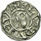 Photo numismatique  ARCHIVES VENTE 2011 -Coll Amateur Bourguignon 2 BARONNIALES Royaume de BOURGOGNE - monnayage comtal Comté de LYON - HENRI LE NOIR roi (1038-1058) 253- Denier.