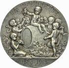 Photo numismatique  ARCHIVES VENTE 2011 -Coll Amateur Bourguignon 2 MEDAILLES MEDAILLES CONCERNANT BOURGOGNE ET FRANCHE-COMTE Médaille de L. Desvignes 215- La feuillette, 25ème anniversaire en 1913.