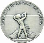 Photo numismatique  ARCHIVES VENTE 2011 -Coll Amateur Bourguignon 2 MÉDAILLES MEDAILLES CONCERNANT BOURGOGNE ET FRANCHE-COMTE Médaille de A. Guzman 205- Centenaire de la Caisse d'Epargne de Dijon, 1834-1934.