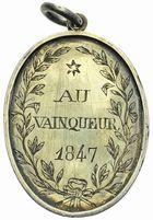 Photo numismatique  ARCHIVES VENTE 2011 -Coll Amateur Bourguignon 2 MÉDAILLES MEDAILLES CONCERNANT BOURGOGNE ET FRANCHE-COMTE Médaille de Tir 201- Pommard (Saône-et-Loire), prix au vainqueur, 1847.