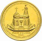Photo numismatique  ARCHIVES VENTE 2011 -Coll Amateur Bourguignon 2 MÉDAILLES MEDAILLES CONCERNANT BOURGOGNE ET FRANCHE-COMTE Bourbon-Lancy (Saône-et-Loire) 200- La fontaine place d'Aligre, 1843.