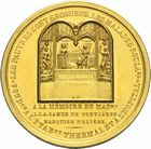 Photo numismatique  ARCHIVES VENTE 2011 -Coll Amateur Bourguignon 2 MEDAILLES MEDAILLES CONCERNANT BOURGOGNE ET FRANCHE-COMTE Bourbon-Lancy (Saône-et-Loire) 200- La fontaine place d'Aligre, 1843.