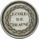 Photo numismatique  ARCHIVES VENTE 2011 MEDAILLES MEDAILLES CONCERNANT BOURGOGNE ET FRANCHE-COMTE Beaune (C�te-d'Or) 198- Beaune (C�te-d'Or), premier prix de dessin, 1�re classe, 1826.