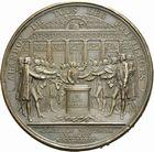 Photo numismatique  ARCHIVES VENTE 2011 -Coll Amateur Bourguignon 2 MEDAILLES MEDAILLES CONCERNANT BOURGOGNE ET FRANCHE-COMTE M�daille de d�put� 194-  M�daille de l�abandon des privil�ges, 4 ao�t 1789, attribu�e au d�put� du Tiers-Etat Gantheret.