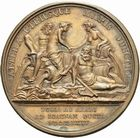 Photo numismatique  ARCHIVES VENTE 2011 -Coll Amateur Bourguignon 2 MEDAILLES MEDAILLES CONCERNANT BOURGOGNE ET FRANCHE-COMTE Canal de la Saône à l'Yonne 193-Canal de la Saône à l'Yonne, 1785.