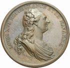 Photo numismatique  ARCHIVES VENTE 2011 -Coll Amateur Bourguignon 2 MEDAILLES MEDAILLES CONCERNANT BOURGOGNE ET FRANCHE-COMTE Canal de la Sa�ne � l'Yonne 191- LOUIS XVI. Canal de la Sa�ne � l�Yonne, 1785.