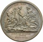 Photo numismatique  ARCHIVES VENTE 2011 -Coll Amateur Bourguignon 2 MÉDAILLES MEDAILLES CONCERNANT BOURGOGNE ET FRANCHE-COMTE Canal de la Saône à l'Yonne 191- LOUIS XVI. Canal de la Saône à l'Yonne, 1785.