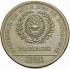 Photo numismatique  ARCHIVES VENTE 2011 -Coll Amateur Bourguignon 2 MEDAILLES MEDAILLES CONCERNANT BOURGOGNE ET FRANCHE-COMTE Naissance du duc de Bourgogne, 1751 187- Naissance du duc de Bourgogne. Mariages de Paris, 1751.