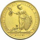 Photo numismatique  ARCHIVES VENTE 2011 -Coll Amateur Bourguignon 2 MEDAILLES MEDAILLES CONCERNANT BOURGOGNE ET FRANCHE-COMTE Académie de Dijon 181- Fondation de l'Académie de Dijon par H.-B. Pouffier, 1740.