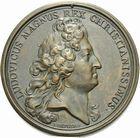Photo numismatique  ARCHIVES VENTE 2011 -Coll Amateur Bourguignon 2 MEDAILLES MEDAILLES CONCERNANT BOURGOGNE ET FRANCHE-COMTE Mariage du duc de Bourgogne, 1697 180- Mariage du duc de Bourgogne avec Marie-Adélaïde de Savoie, 1697.